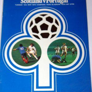 scotlnd portugal 1975 programme
