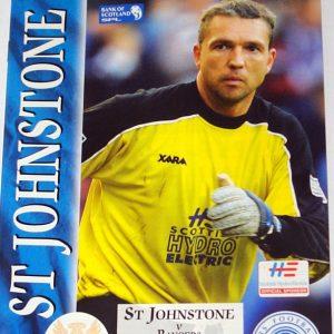 st johnstone v rangers 2001 programme
