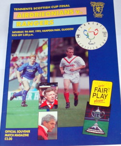ardrie v rangers scottish cup final programme