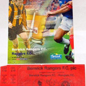 berwick rangers v rangers