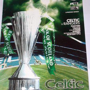 celtic v rangers large 2001 programme