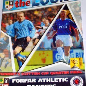forfar v rangers 2003 large programme