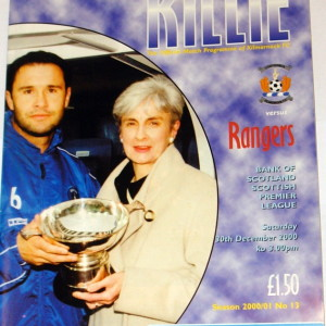 kilmarnock v rangers 2000-01 programme