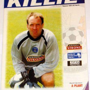 kilmarnock v rangers 2002 jan programme