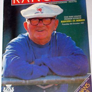 rangers v st mirren 1987 programme