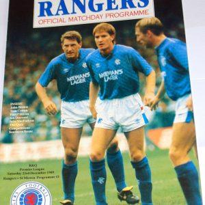 rangers v st mirren 1989 programme