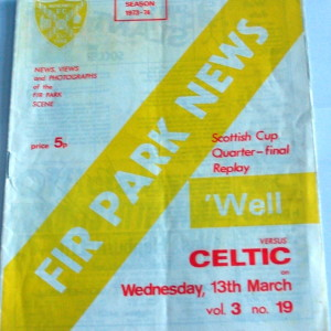 motherwell v celtic 1973