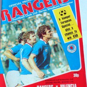 rangers v valencia 1979