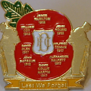 dundee lest we forget badge