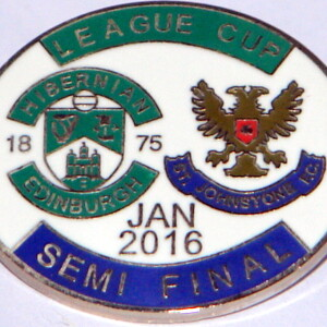 hibs v st johnstone badge