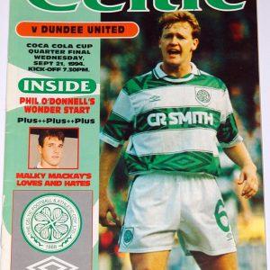 celtic v united 1994 quarter final coca cola cup