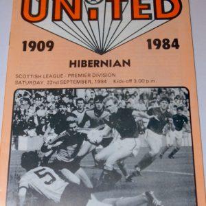united v hibs 84 sept