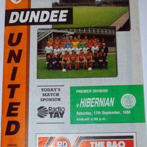 dundee united v hib sept 1988