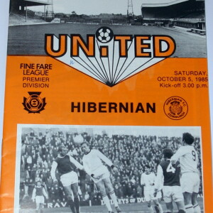 dundee united v hibernian 1985