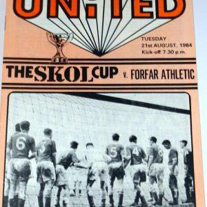 united v forfar skol cup 1984