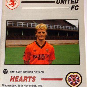 united v hearts 1987 november