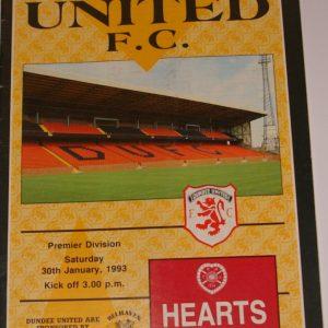 united v hearts jan 1993