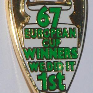 67 european cup celic badge