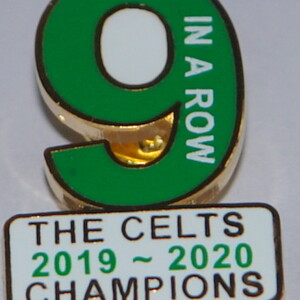 celts 9 in the row badge