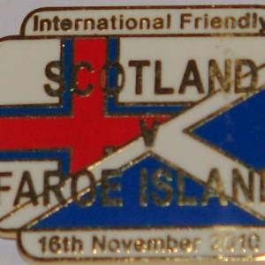 scotland v faroe 2010 badge