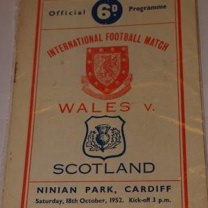wales v scotland 1952