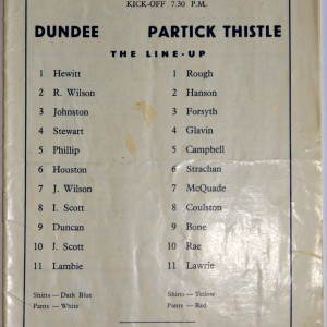 dundee v partick thistle 1971