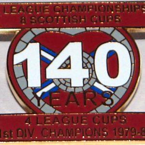 hearts 140 years badge