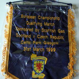 scotland czech 1999 officials pennant