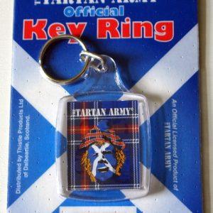 tartan army face key ring