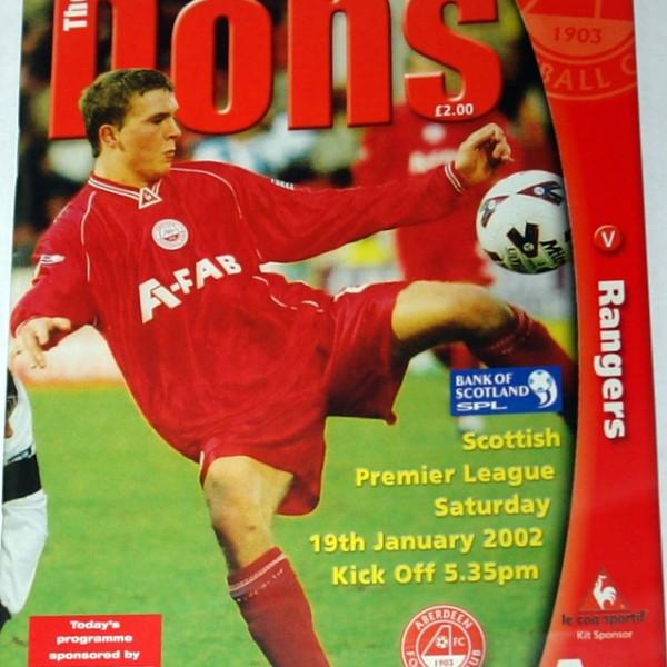 aberdeen v rangers 2002 programme