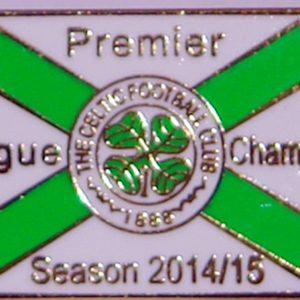 celtic champs flag badge 2014-15 badge