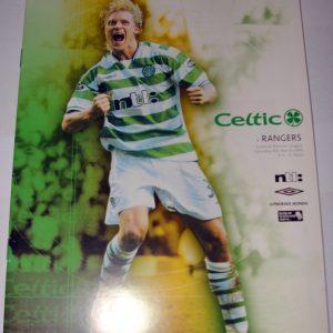 celtic v rangers 2003 programme