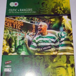 celtic v rangers 2004 programme