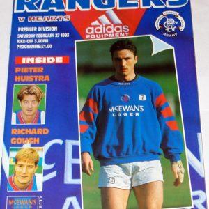 rangers v hearts 1993 programme