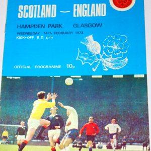 scotland v england 1973 programme