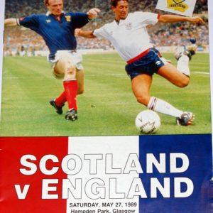 scotland v england 1989 programme