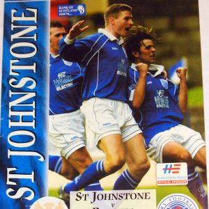 st johnstone v rangers 2002 programme