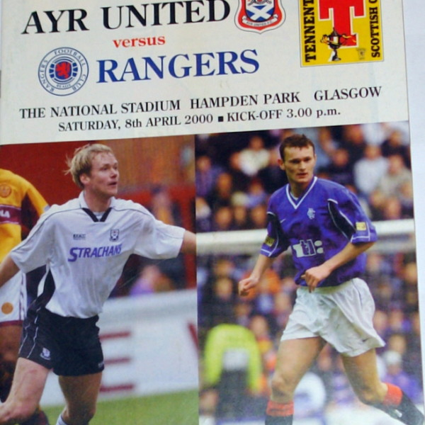 ayr united v rangers 2000 programme