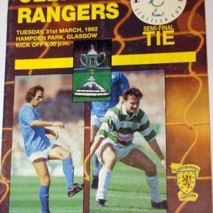celtic v rangers 1992 programme