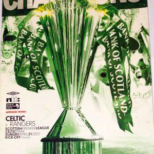celtic v rangers 2002 programme
