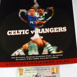 celtic v rangers 2002 scottish cup programme