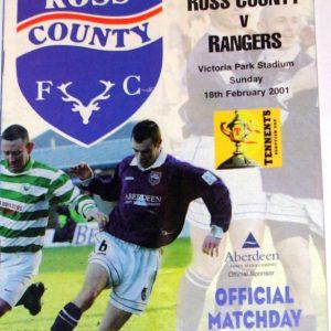 ross county v rangers 2001 programme