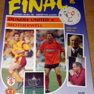 dundee utd v motherwell 1991 cup