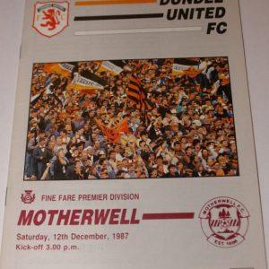 united v motherwell 1987 dec