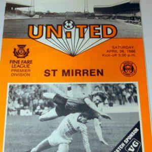 united v st mirren 1986 april