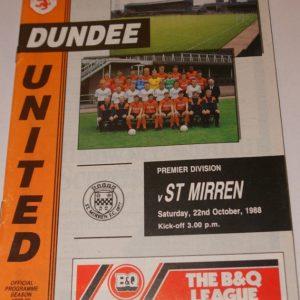 united v st mirren 1988