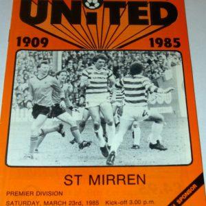 united v st mirren march 1985
