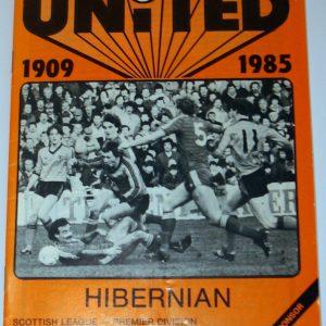 dundee united v hibs feb 1985