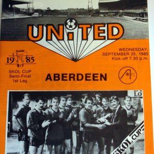 united v aberdeen skol cup 1985