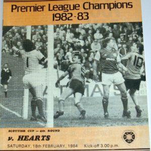 united v hearts 1984 february